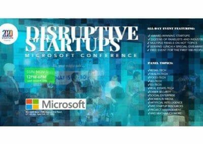 Disruptive Startups Microsoft Conference 11.05.17